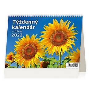 Týždenný kalendár - slovenské týždenné riadkové s citátmi, 54+2 strán