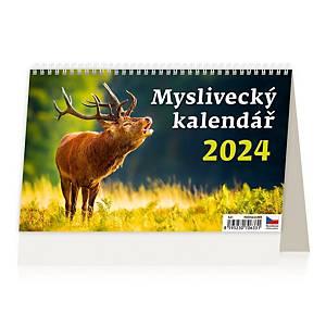 Myslivecký kalendář - české týdenní řádkové kalendárium, 22,6 x 13,9 cm