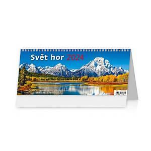 Svět hor - české týdenní sloupcové kalendárium, 60 + 2 stran, 32,1 x 13,4 cm