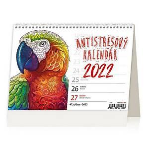 Antistresový kalendář - české týdenní řádkové kalendárium, 54 + 2 stran
