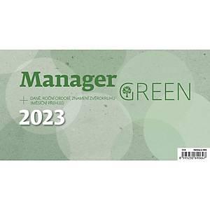Manager Green - české týdenní sloupcové kalendárium, 60 + 2 stran, 24,6 x 13 cm