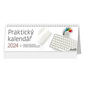 Praktický kalendář - české týdenní sloupcové kalendárium, 64 + 2 stran