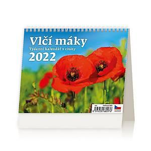 Vlčí máky- české týdenní sloupcové kalendárium