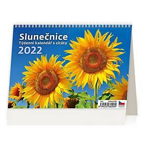 Slunečnice - české týdenní řádkové kalendárium s citáty, 54 + 2 stran