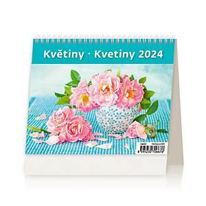 MiniMax Květiny - české/slovenské týdenní řádkové kalendárium, 56 + 2 stran