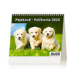 MiniMax Pejsci - české/slovenské týdenní řádkové kalendárium, 56 + 2 stran