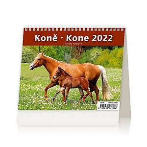 MiniMax Koně - české/slovenské týdenní řádkové kalendárium, 56 + 2 stran