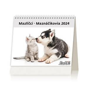 MiniMax Mazlíčci - české/slovenské týdenní řádkové kalendárium, 56 + 2 stran