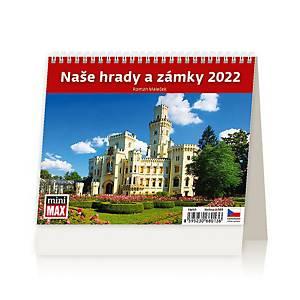 MiniMax Naše hrady a zámky - české týdenní řádkové kalendárium, 56 + 2 stran