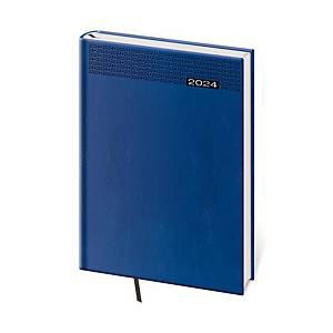 Diář denní A5 Gommato - modrý, 14,3 x 20,5 cm, 352 stran