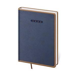 Diár denný A5 Elegant - modro/hnedý, 14,3 x 20,5 cm, 352 strán
