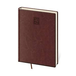 Diář denní A5 Nebrasca - anglická červená, 14,3 x 20,5 cm, 352 stran