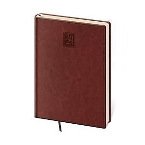 Diář týdenní A5 Nebrasca - anglická červená, 14,3 x 20,5 cm, 128 stran