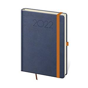 Diář denní A5 New Praga - modrý, 14,3 x 20,5 cm, 352 stran