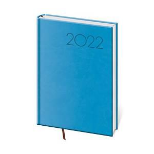 Diář denní A5 Print - světle modrý, 14,3 x 20,5 cm, 352 stran
