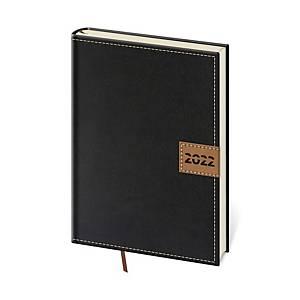 Diář denní A5 Toledo - černý, 14,3 x 20,5 cm, 352 stran