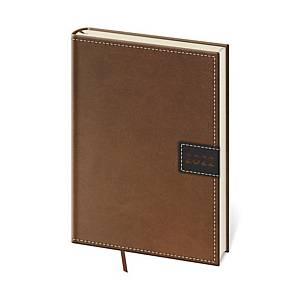 Diář denní A5 Toledo - hnědý, 14,3 x 20,5 cm, 352 stran