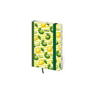 Diář týdenní kapesní Vario Bubles s gumičkou - 9 x 14 cm, 128 stran