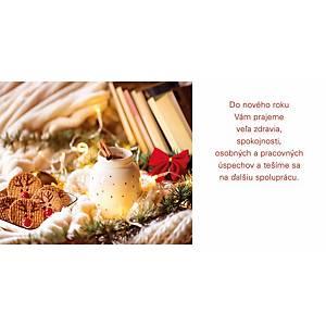 Novoročné prianie Dekorácia lucerna, 20 x 10 cm
