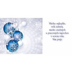 Novoročné prianie Stromček s hviezdičkou, 20 x 10 cm
