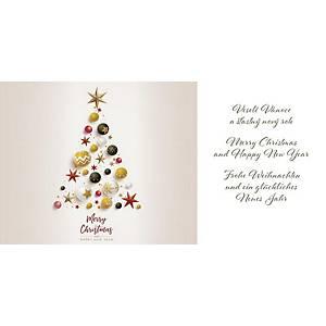 Novoroční přání Stromeček s hvězdičkou, 20 x 10 cm