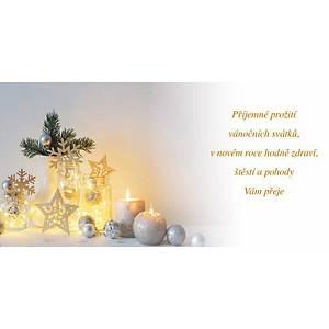 Novoroční přání Dekorace s pomerančem, 20 x 10 cm
