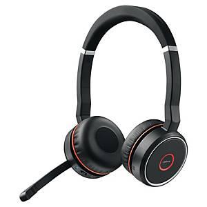 Jabra Evolve 75 MS stereo headset, zwart