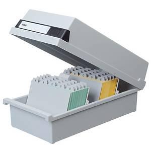 Han 956/11 kortistolaatikko 1300 kortille A6 177 x 360 x 140mm harmaa