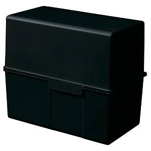 Karteibox HAN 976, A6 quer, für max. 300 Karten, schwarz