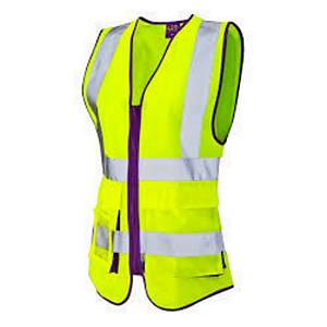 Leo WL11 Ladies High Visibility Waistcoat Yellow Size Small