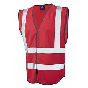 Leo W05 Pilton High-Vis Waistcoat Red Size Medium