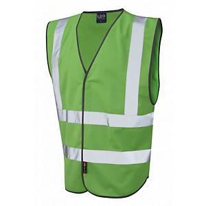 Leo W05 Pilton High-Vis Waistcoat Green Size Large