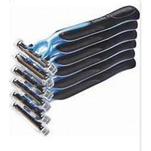 6X Pk5 Gillette Blue Ii Disp Razor