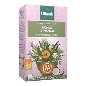 Napar DILMAH INFUSIONS Green Rooibos, Coconut & Mango, 20 torebek