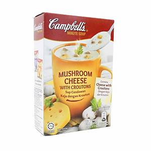 Campbell s Mushroom Cheese with Croutons 21g - Pack of 3