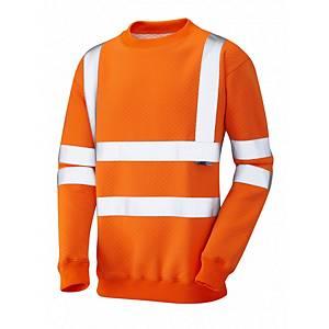 Leo SS05 Sweatshirt High-Vis Long Sleeve Orange Size Large
