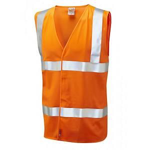 Leo W08 Waistcoat High-Vis Orange Size Medium