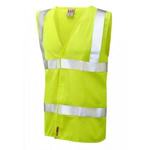 Leo W08 Waistcoat High-Vis Yellow Size Large