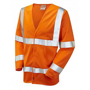 Leo S11 Waistcoat Long Sleeve High-Vis Orange Size 4XL