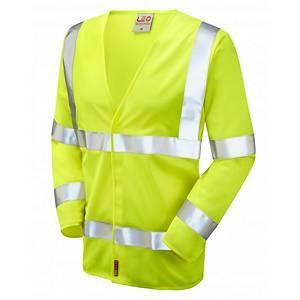 Leo S11 Waistcoat Long Sleeve High-Vis Yellow Size XL