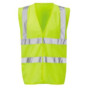 High Visibility Waistcoat Size Large - Yellow
