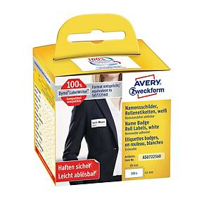 BX200AVERY AS0722560 S/ADH BADGE 41X89MM