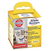Etiketter Avery Heavy Duty, 59 x 102 mm, pakke a 50 stk.