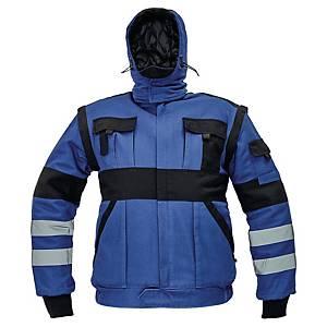 Kurtka ocieplana CERVA MAX WINTER REFLEX, niebiesko-czarna, rozmiar 56