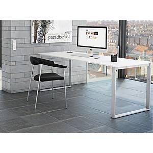 Hæve-sænke-bord Frame, 160 x 80 cm, hvid/hvid decor laminat