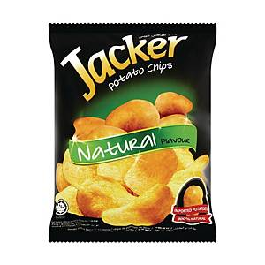 Jacker Potato Chips Natural 60g - Pack of 12