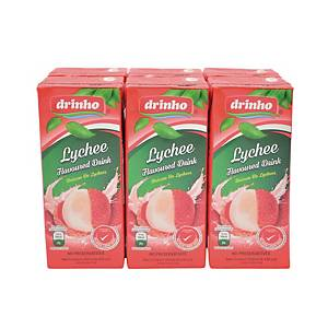 Drinho Lychee 250ml - Pack of 6