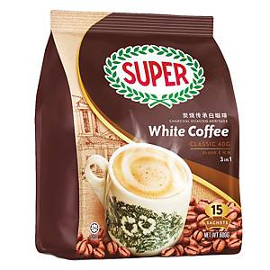 Super White Coffee 3 in 1 Regular 40g - Pack of 15