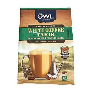 Owl White Coffee Tarik 3 in 1 Coconut Sugar 36G Pack of 15