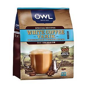 White Coffee Tarik 3 in 1 Less Sugar Owl 30G Pack of 15